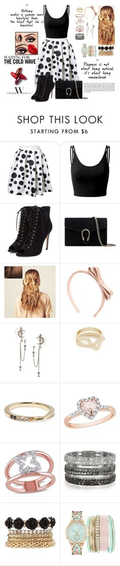 """OH YOUR PRETTY DRESS..."" by cecilialukas ❤ liked on Polyvore featuring Doublju, Gucci, Hershesons, RED Valentino, Alexander McQueen, Elizabeth and James, Amour, Bernard Delettrez, Charlotte Russe and Jessica Carlyle"
