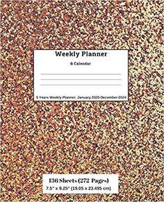 Amazon.com: Weekly Planner & Calendar: 5 Years Planner: January 2020-December-2024 (9781696570084): Ricky Lee: Books