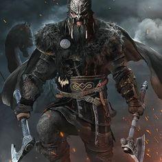 Viking Berserker, Thor, Dark Fantasy Art, Fantasy Artwork, Fantasy Character Design, Character Art, Berserker Tattoo, Art Viking, Viking Woman