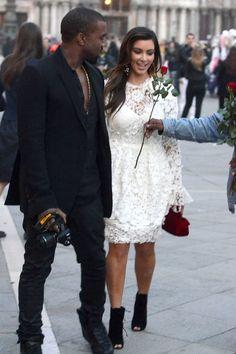 kim with boyfriend kanye west in italy