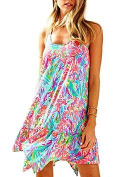 0be624387804a Lilly Pulitzer - SALE Hampton Dress - Muilti Fan Sea Pants Reduced -Medium
