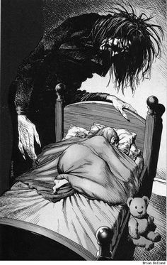 Each night Father fills me with dread, as he stands at the edge of my bed, I care not that he speaks, in gibbers and squeaks, but for thirteen whole years he's been dead...