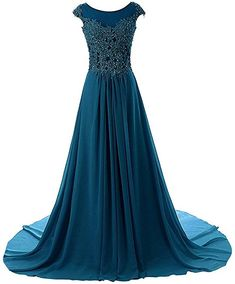 Prom Dresses Long Evening Gowns Lace Bridesmaid Dress Chiffon Prom Dress Cap Sleeve -- Check out the image by visiting the link. (This is an affiliate link) Indian Gowns Dresses, Ball Dresses, Prom Dresses, Long Dresses, Dress Long, Pretty Dresses, Beautiful Dresses, Lace Evening Gowns, Lace Bridesmaid Dresses