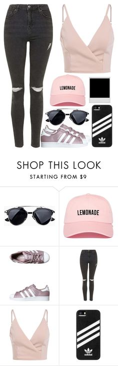 """Street Style"" by eduardacardoso1999 ❤ liked on Polyvore featuring adidas Originals, Topshop and adidas"