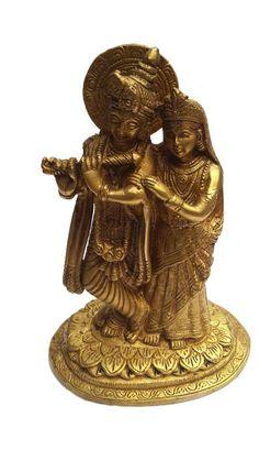 <b>Content: </b>Pure Brass Radhe Krishna<br> <b>Dimensions: </b>19cm Height <b>Material: </b>Brass<br>
