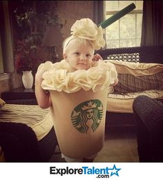 my baby girl can totally mini frappuccino. reppin mommy. Tere reminds me of how everyone of your friends know me as starbucks lol