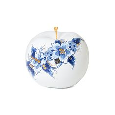 Metal Embossing, Delft, Royal Blue, Christmas Bulbs, Oriental, Blue And White, Hand Painted, Drawing, Fruit