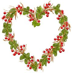 Grapevine Heart Wreath- Original art download 2 files