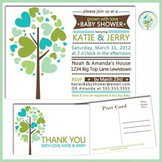 Family Tree Baby Shower - Grown with Love Baby Shower Invitations -......