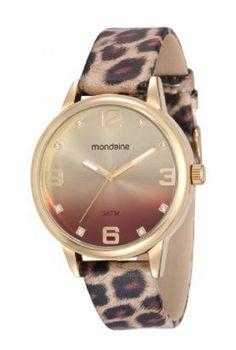 99028LPMVDH1 Relógio Feminino Mondaine Analógico com Pulseira de Couro | Guest Club