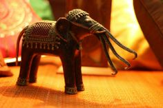 3-trunked Dokra elephant made of solid brass & hand-painted. The elephant is based on the mythical Airavata Elephant, the carrier of Indra. The Airavata elephant has often been represented as one with multiple trunks ranging from 3 to 33.