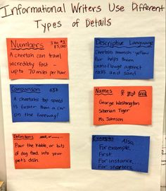 Working on adding a variety of details to our informational writing. #tcrwp
