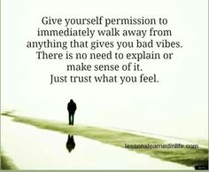 Trust what you feel