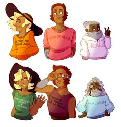 Some happy sweaters and some sad sweaters ur welcome