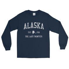 Vintage Alaska AK Adult Long Sleeve T-Shirt (Unisex)