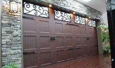 wood like color garage doors by Garage doors 4 Less. Garage Door Spring Repair, Unique Garage Doors, Garage Door Springs, Canoga Park, San Fernando Valley, Exterior, Wood, Outdoor Decor, Modern