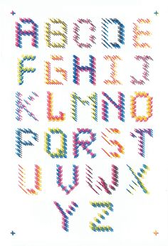 Stitched Typographic Poster