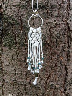 Ketten lang - Boho - Makramee - Halskette mit Holzperlen - ein Designerstück von LisaVeilchen bei DaWanda