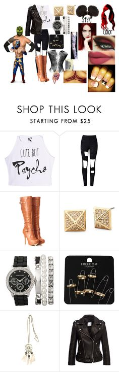 """""""A hardy and the Masked Man(Sin Cara(Hunico) Love Story)"""" by anaeve ❤ liked on Polyvore featuring WithChic, Topshop and H&M"""