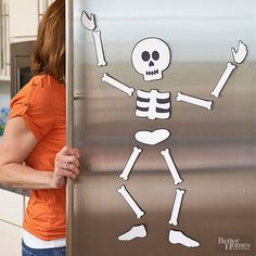 "kids""ll love it...refrigerator skeleton...free template...."
