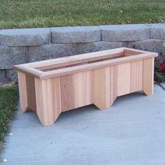 WoodCountry Rectangular Planter Box Finish: Unstained, Size: H x W x D Cedar Planter Box, Garden Planter Boxes, Vegetable Planter Boxes, Diy Wooden Planters, Outdoor Planters, Rectangular Planter Box, Wood Raised Garden Bed, Cedar Stain, Palette Deco