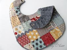 quilted baby bib tutorial