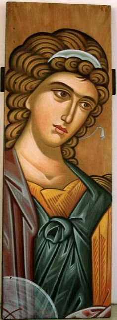 Byzantine Icons, Byzantine Art, Religious Icons, Religious Art, Writing Icon, Gabriel, Greek Icons, Biblical Art, Archangel Michael