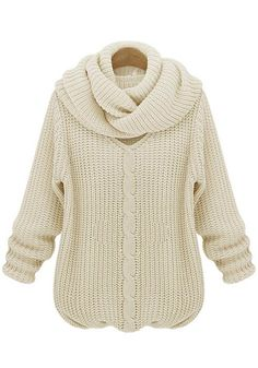 Love this Sweater Design! Off White Plain V-neck Long Sleeve Thick Wool Sweater #classic #sweater #fashion