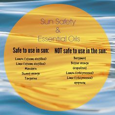 Be safe in the sun with your essential oils.