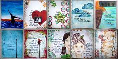 Karenika's Art Journal pages