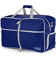 ErgaLogik TraveLite Foldable 80L/40L Waterproof Travel Duffel Bag for Sports & Gym