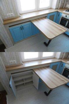 Diy Furniture Kitchen Island - New ideas Kitchen Cabinet Layout, Kitchen Room Design, Home Decor Kitchen, Interior Design Kitchen, Kitchen Furniture, Home Kitchens, Folding Furniture, Apartment Kitchen, Küchen Design