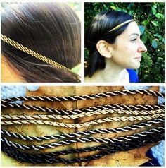 Double metallic twist wrap head band