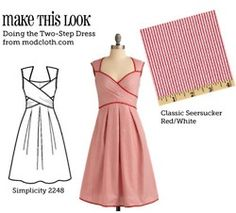 Website that matches sewing patterns to store-bought outfits. How did I not know about this? makethislook.com