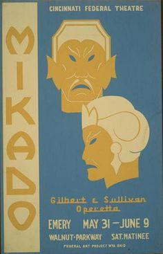 """Mikado""  ,Ohio Federal Art Project, WPA  ,1936 and 1941"