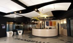 ACOUSTIC CEILING CLOUDS ORCAL CANOPY BY ARMSTRONG BUILDING PRODUCTS