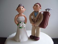 This SOOOO should have been our wedding cake topper since hubby played golf the day we got married, lol!