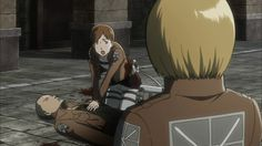 Attack on Titan ~~ Death is actually less gruesome sometimes in the anime than in the manga (1 of 2) :: Franz and Hannah