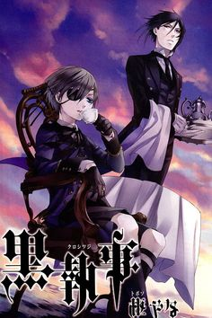 Black Butler- simply one hell of a good show (you'll get it when you watch it) it is an amazing show about a boy who makes a contract with a demon. Sebastian the demon is a butler for ciel the boy. Sebastian is ceils butler until he eats ceils soul.