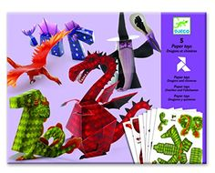 Djeco Folding Paper Toys, Dragons & Chimeras -- Check this awesome product by going to the link at the image.