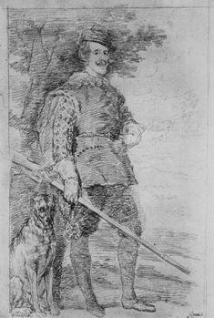 Goya y Lucientes, Francisco de: dibujos de Velázquez: Retrato de Felipe IV.
