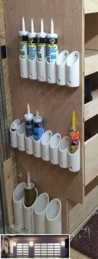 a Garage Storage System On The Ceiling of Your Garage! Create a Garage Storage System On The Ceiling of Your Garage! Create a Garage Storage System On The Ceiling of Your Garage! Create a Garage Storage System On The Ceiling of Your Garage! Garage Storage Systems, Diy Garage Storage, Shed Storage, Garage Shelving, Storage Drawers, Pvc Pipe Storage, Organizing A Garage, Spray Paint Storage, Organizing Drawers