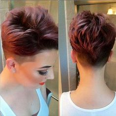 Shaved Thick Pixie Hair This is what I want!