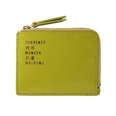 Box Currency Wallet Green