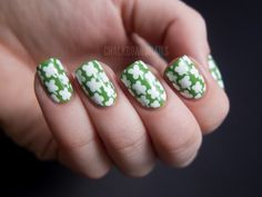 I did gold glitter and green flakie nails with a shamrock accent but forgot to take pictures of it :(