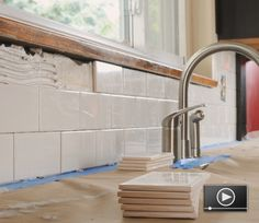A ceramic tile backsplash is a great way to enhance the look of your kitchen or bathroom. It's also a great do-it-yourself project and a nice introduction to working with tile. Learn how to do it here!