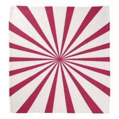 Red Rays Geometric Bandana by Sand Creek Ventures