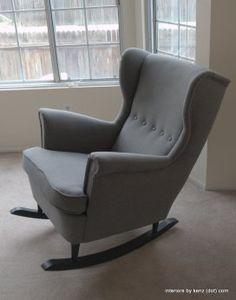 IKEA Hack: Strandmon Rocker {DIY Wingback Rocking Chair} | Interiors by Kenz