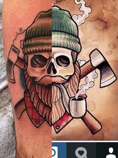Image result for tattoo woodsman