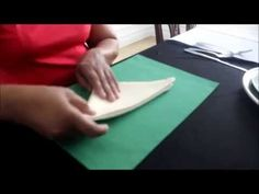 HOW TO FOLD A NAPKIN INTO THREE SWIRLS By Shirley Hailstock Inspiration for learning the folding instructions This is the fi...